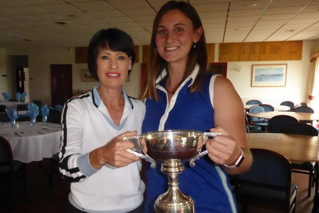 Tara Rodenhurst collects the Ludlow Golf Club's Ladies Championship
