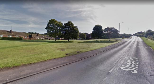 Plans for five bungalows on open, green space have been approved by planners. Photo: Google.