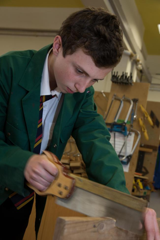 Jack Lewis is one of the students at the Queen Elizabeth High School set to benefit from the new centre.