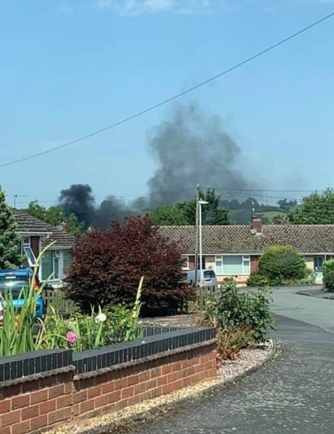 A property owner has been told not to burn plastics by the fire service. Photo: @HWFireTenbury