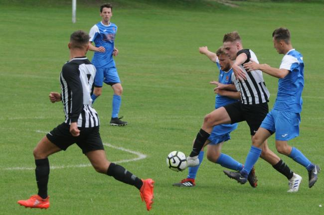Church Stretton forward James Hill scored the only goal for his side in their defeat