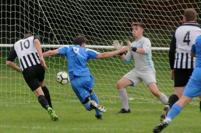 Church Stretton's Dean Richards scored a brace as they beat Telford Juniors 4-0