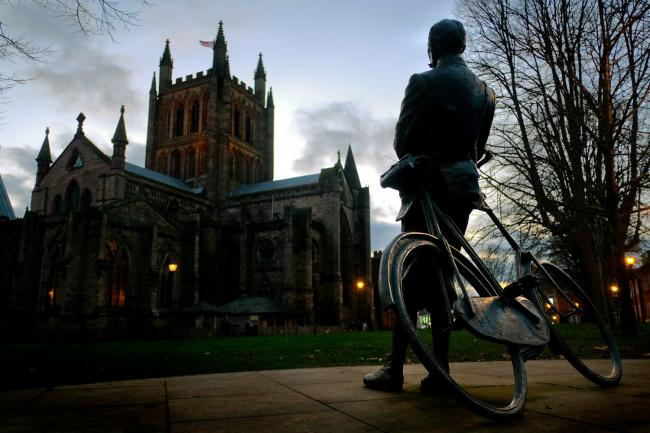 The Elgar statue in Hereford by Phil Loach