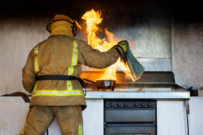 A hob was left unattended at a house in Ludlow, with fire crews being called. Stock picture.