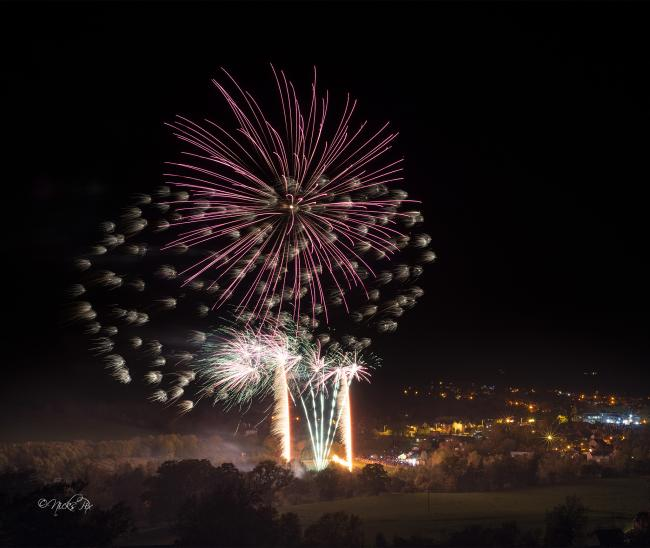 Over 2,000 people enjoyed the event last year with fireworks by Titanium Fireworks. Photo: Nick Jackson