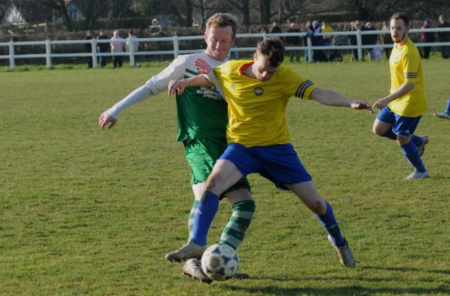 Tenbury United's Chris Patton scored against Holme Lacy Reserves