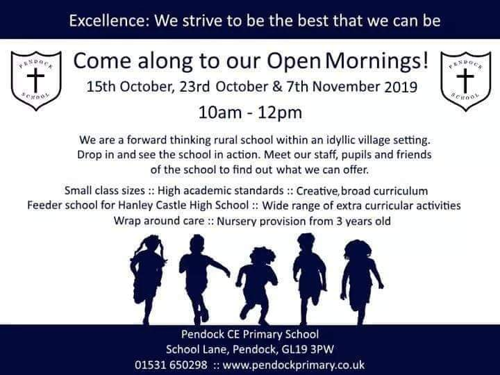 Pendock CE Primary School Open Morning