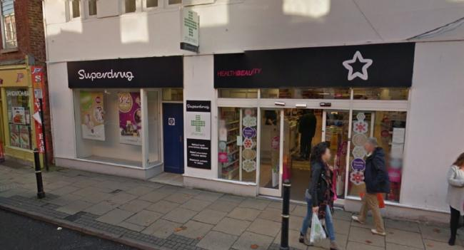 THEFT: The comestics were stolen from Superdrug. Picture: Google Street View