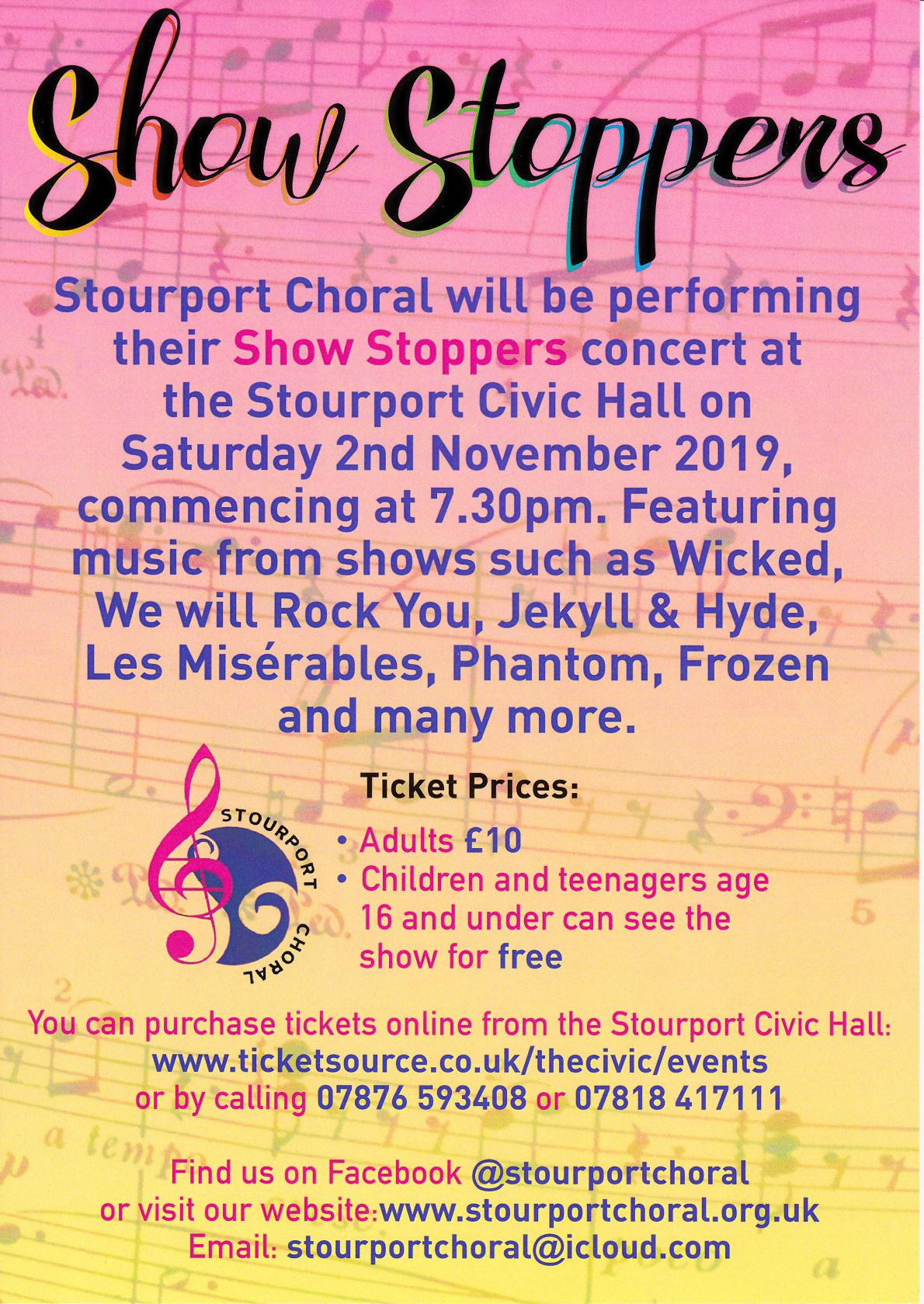 Free entry to ALL children age 16 and under to Concert