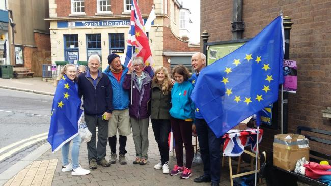 CAMPAIGN: Malvern for Europe members in the town centre on Saturday.