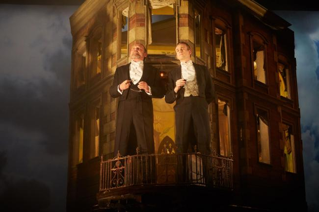 Jeff Harmer and Andrew Macklin in An Inspector Calls by J.B. Priestley. Photo by Mark Douet