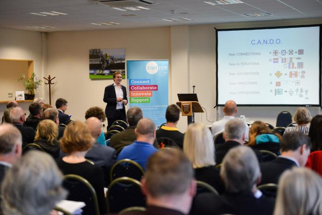 11 Nov 2014 - Met Net Conference, Ludlow Racecourse. James Bannerman..