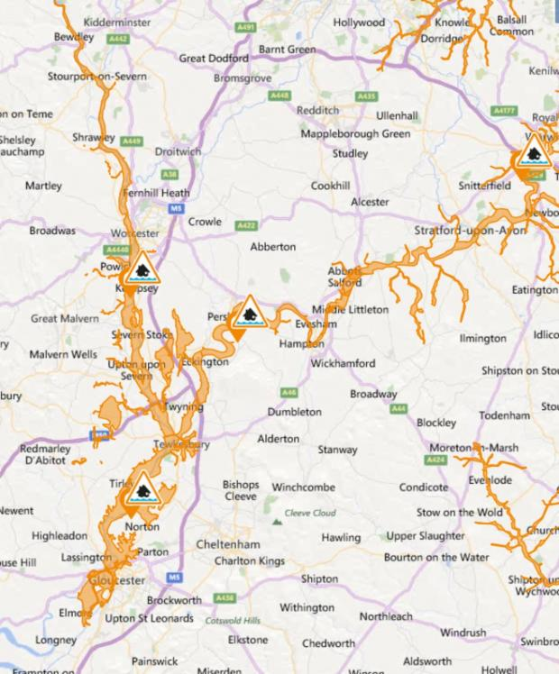 Ludlow Advertiser: The flood warning areas