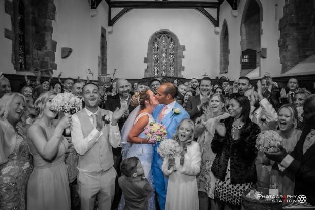Ruth and Jordan Miller tie the knot. Pic: The Photography Station, Kingswinford.