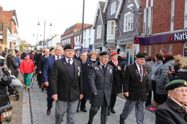 Remembrance Sunday in Bromsgrove. PIC: Geoff Hawkesworth