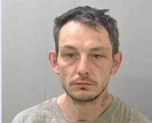 Mark Spragg has been jailed for stabbing a retail worker with a needle. Photo: West Mercia Police