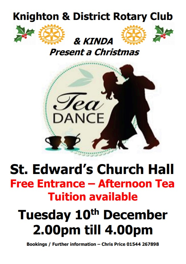 A Christmas afternoon tea and dance in Knighton