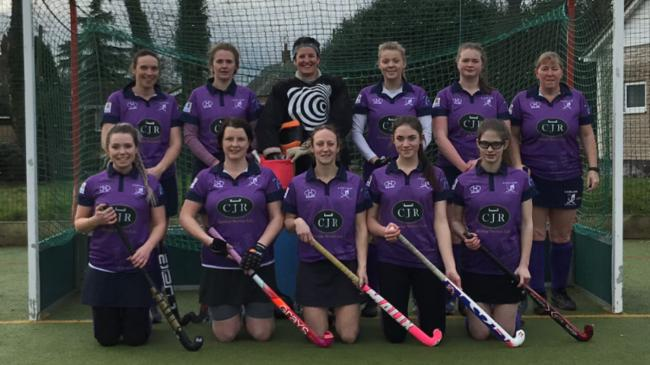 Ludlow in there new sponsored kit Back row left to right Helen Braden , Georgina Morris ,Tanya Chamberlain , Shaunagh yarham , Evie Davis , Tracy Francis Front row Sarah Williams , Julie Chamberlain ( captain ) claire stewardson , Amanda cavenagh, Charlot