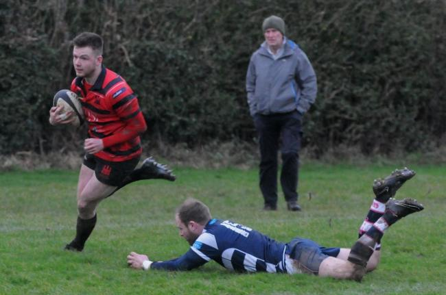 Ludlow's Tom Amphlett scored four tries against Old Halesonians