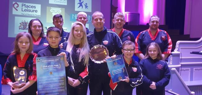 DELIGHTED: Young Gloves Karate Club at the Wyre Forest District Council Sports Awards 2019