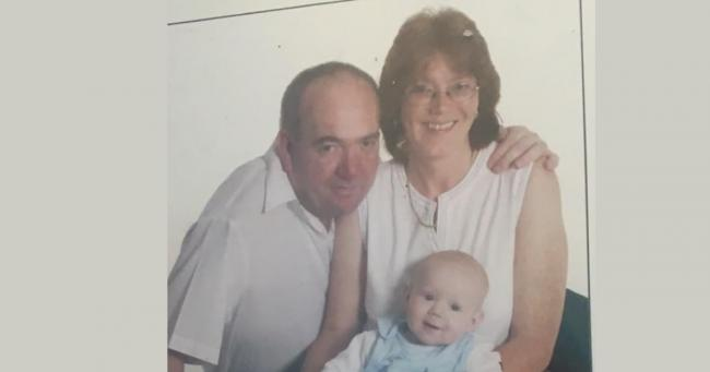 Yvonne Booth, 55, from Great Barr in Birmingham. She is pictured here with her late husband and her son