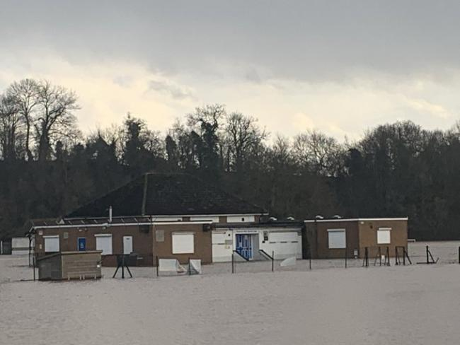 The flooding at Ross Sports Centre
