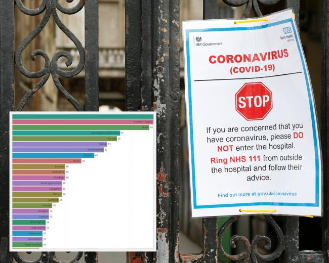 Latest confirmed cases of coronavirus area-by-area