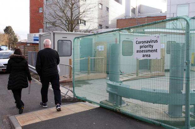 Coronavirus priority assessment area at Hereford County Hospital