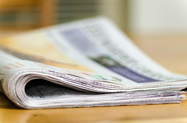 Newspaper: The World Health Organisation (WHO) have said it's unlikely you could catch coronavirus from newspapers. Picture: Pixabay