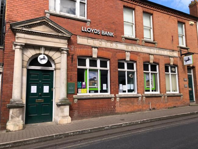 Lloyds Bank in Bromyard has temporarily closed due to the coronavirus outbreak