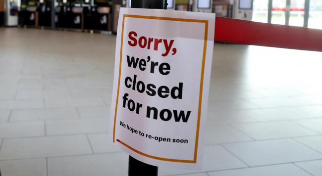 CLOSED: Many businesses across the country have had to closed and furlough staff. Picture: PA Wire