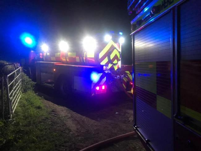 Firefighters were called to Frith Common. Photo: Tenbury Fire Station