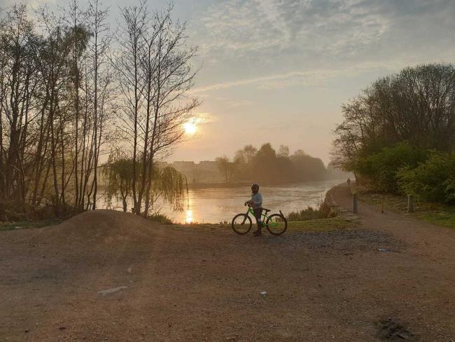 Morning bike ride along the Little Lever Canal by Darren Roscoe