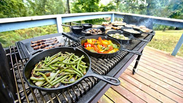 Ludlow Advertiser: A good cast iron (or four) can help you cook up vegetable and more on the BBQ. Credit: Amazon / Lodge