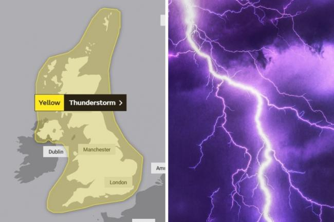 Met Office issue massive thunderstorm warning for the UK - latest forecast
