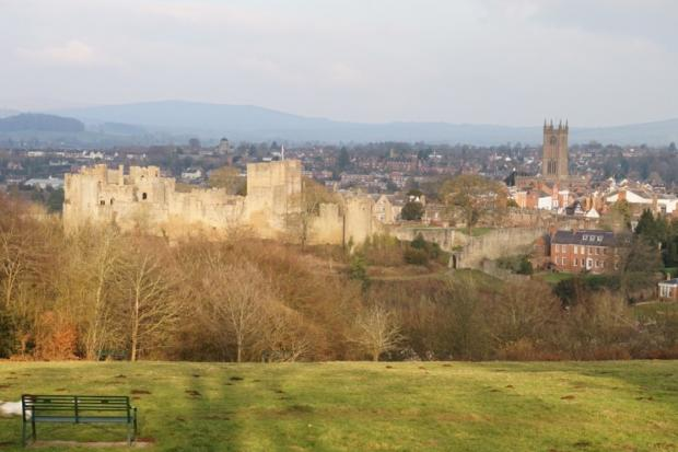 The celebrated view of Ludlow from Whitcliffe Common.