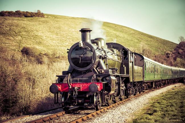 Steam Engine gently passing the English Countryside..