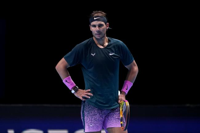Rafael Nadal looks despondent during his loss to Daniil Medvedev