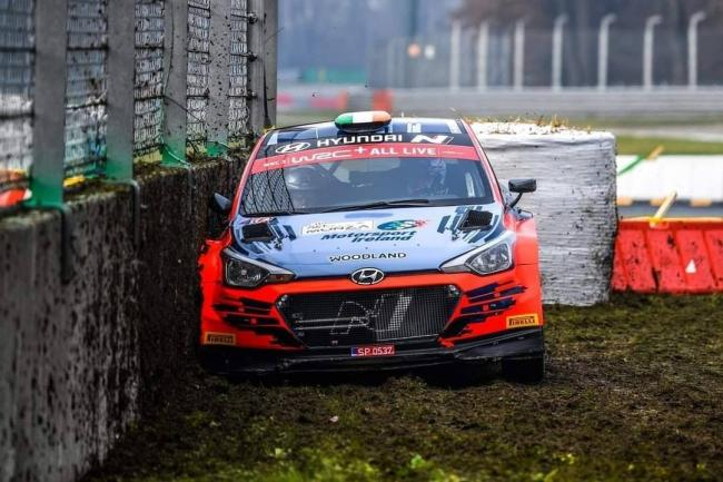 Keaton Williams in action during the WRC's ACI Rally Monza 2020. Picture: Paul Willetts