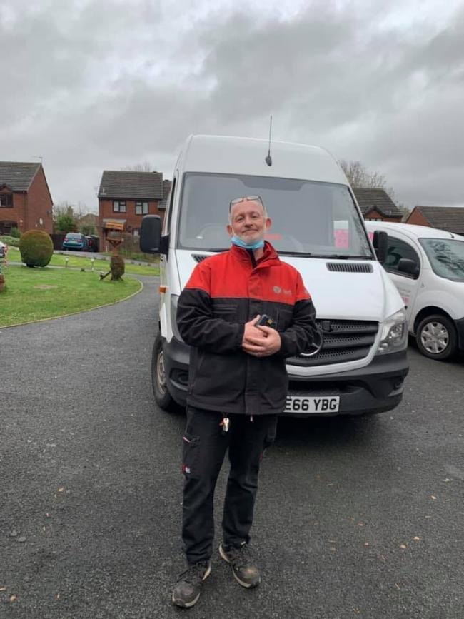 Popular delivery driver Paul Pugh