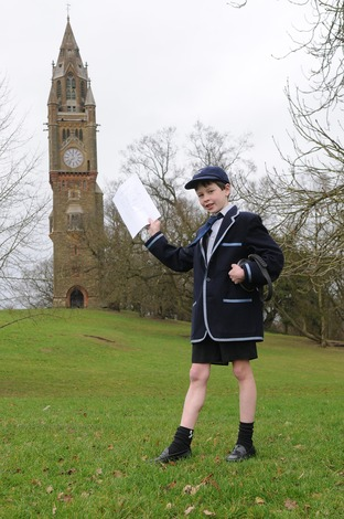 Freddie White won the annual speech contest at Abberley Hall School.