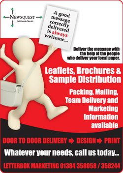 Ludlow Advertiser: leaflet distibution promotion