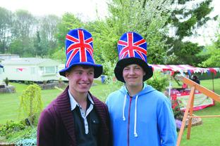 Brothers Joshua and Nathan Beardsmore celebrate the Royal occasion with a couple of big toppers.