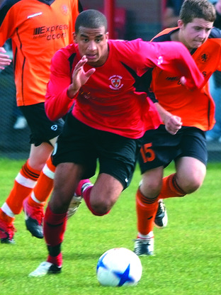Ludlow Town's Nathan Hodge.