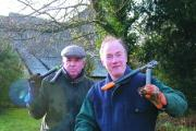 David Holbech,deputy project co-ordinator, and Stephen Ashford, project coordinator, at Caynham churchyard.