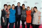 Slimming World consultants with comedian Jason Manford.