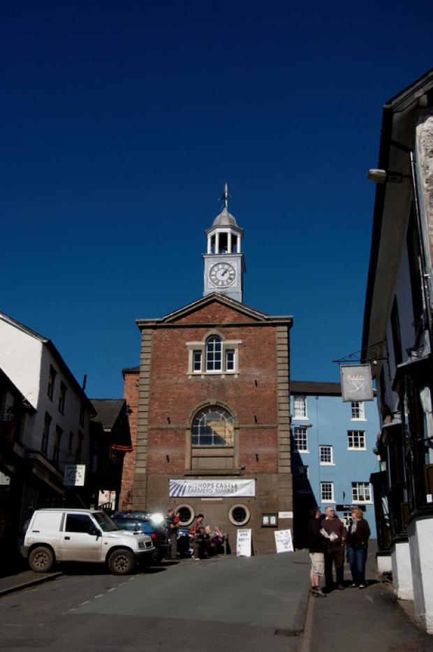 Ludlow Advertiser: Bishop's Castle town hall.