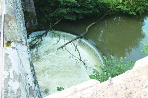The weir at Downton-on-the-Rock