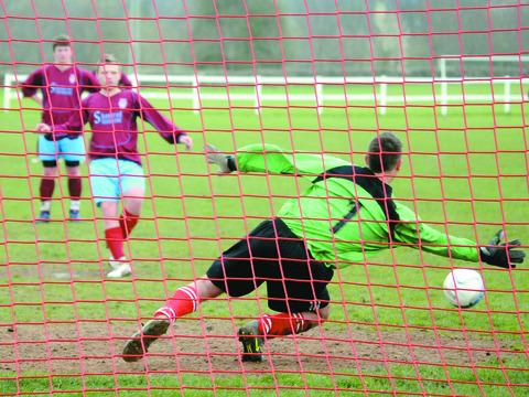 Mark Bouker hit four goals in Tenbury Town's crushing win