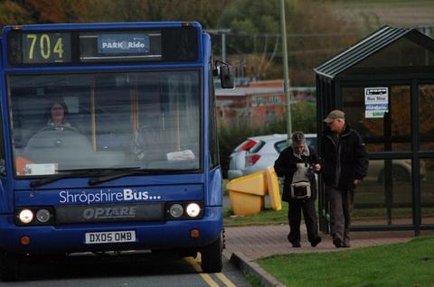 From November 5 until Christmas Eve the fare from the park and ride terminus on the Eco Park in Ludlow will be just 50p compared with the normal 95p charge.